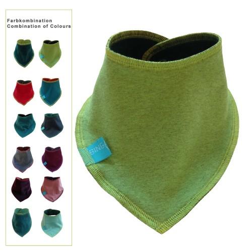 Baby Halstuch uni, Bio-Baumwolle, Dreieckstuch | bingabonga