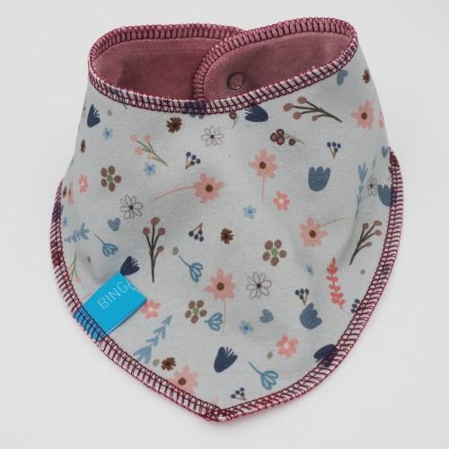 Nicki Wendehalstuch Blumen aus Bio-Baumwolle | bingabonga