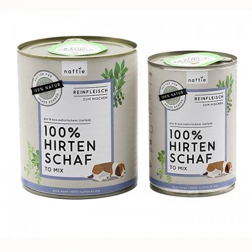 Nassfutter Reinfleisch 100% SCHAF von naftie