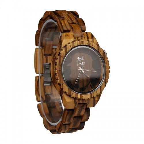 Monoclemanwatch Damen Armbanduhr aus Zebraholz