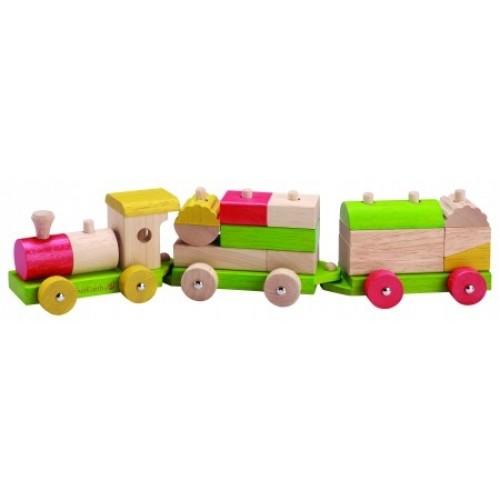 EverEarth Holz Eisenbahn – Motorik Lernspielzeug