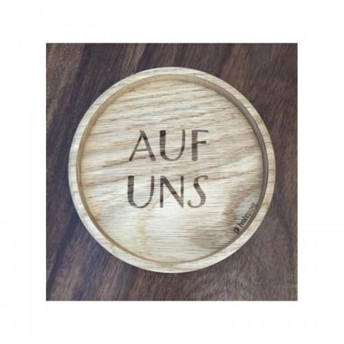 Holz Untersetzer AUF UNS