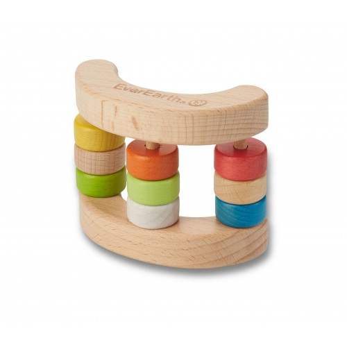 EverEarth® Holzrassel Spielzeug Wippe aus Bio-Holz
