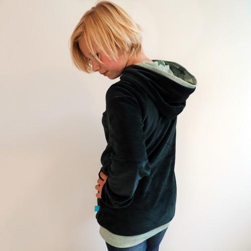 bingabonga Bio Nicki Sweatshirt-Hoodie Dunkelgrün