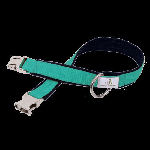 Hundehalsband Bio-Jeans & Gurtband 2,5cm Unique Dog