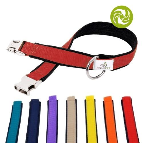 Hundehalsband Used Jeans & Gurtband 2,5cm Unique Dog