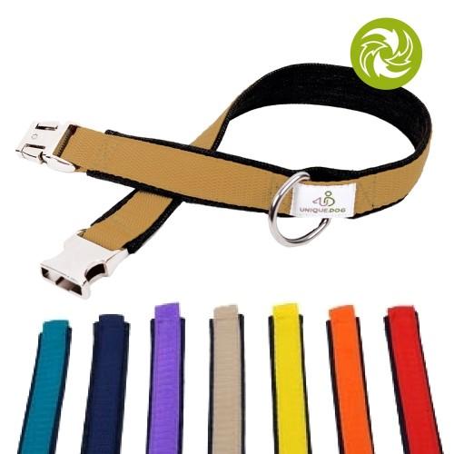 Hundehalsband aus Used Denim & Gurtband 3,5cm | Unique Dog
