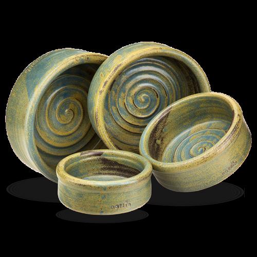 Keramiknapf Kraftspirale von naftie handgefertigt