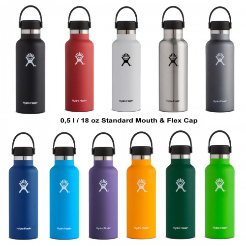 Hydro Flask Thermosflasche 0,5l Standard & Flex Cap