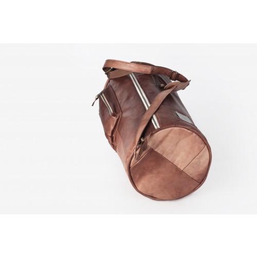 Vintage Reisetasche Sporttasche Ledertasche Braun