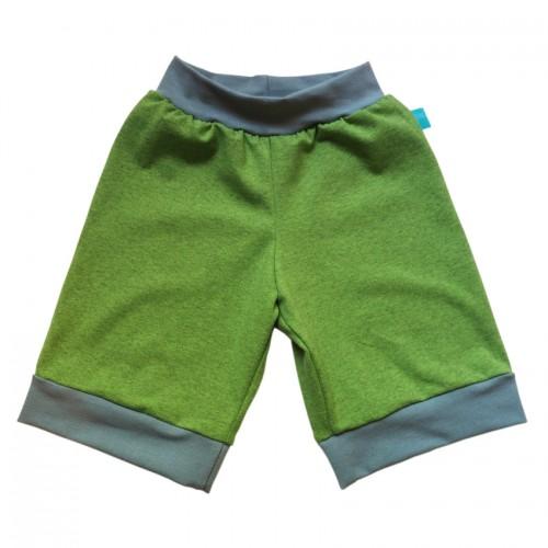 Bio Jersey Shorts Lime-melange/Graublau | bingabonga