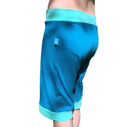 Petrol-Blau Bio Jersey Shorts für Mädchen & Jungen | bingabonga