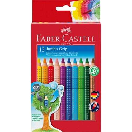Faber-Castell Jumbo Grip Buntstift, 12 Eco Pencil