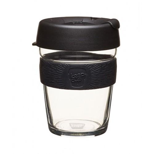 KeepCup Brew Black - Glas Mehrwegbecher für Kaffee & Espresso