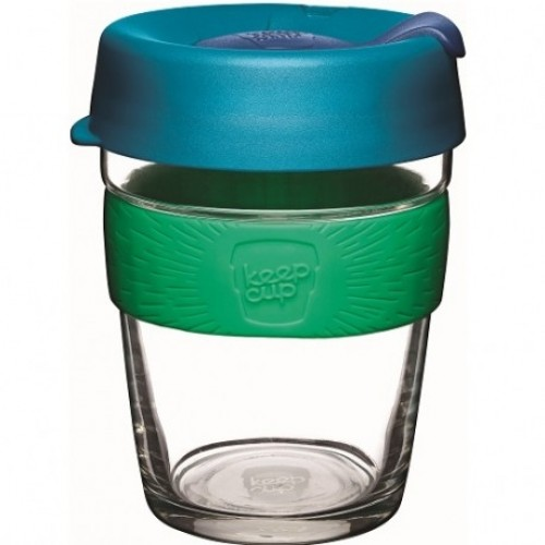 KeepCup Brew Flora - Glas Mehrwegbecher für Kaffee & Espresso
