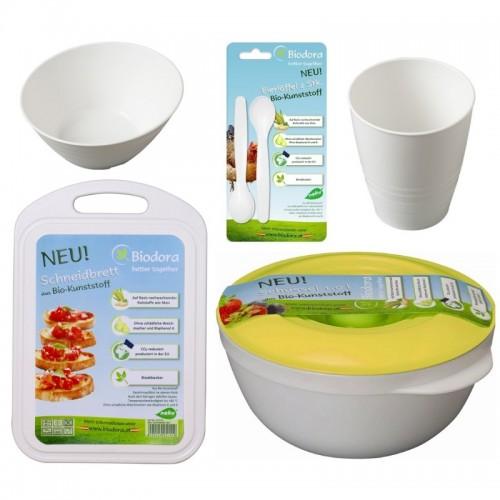 Kennenlern-Set Oeko Küchenutensilien aus Biokunststoff 5-teilig