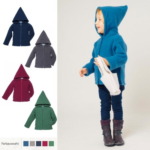 Reiff Bio Fleece Kapuzenjacke - Hoodie Jacke für Kinder