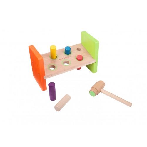 EverEarth® Klopf- und Hammerbank - Öko Holzspielzeug