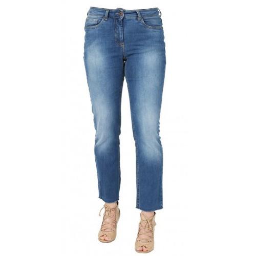 bloomers Slim Fit Jeans mit Fransensaum - Bio-Baumwolle