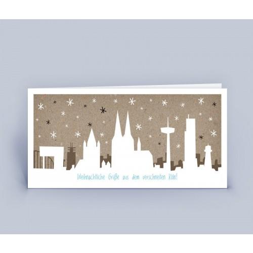 Köln im Schnee - Kölsche Öko Weihnachtskarte | eco-cards-shop