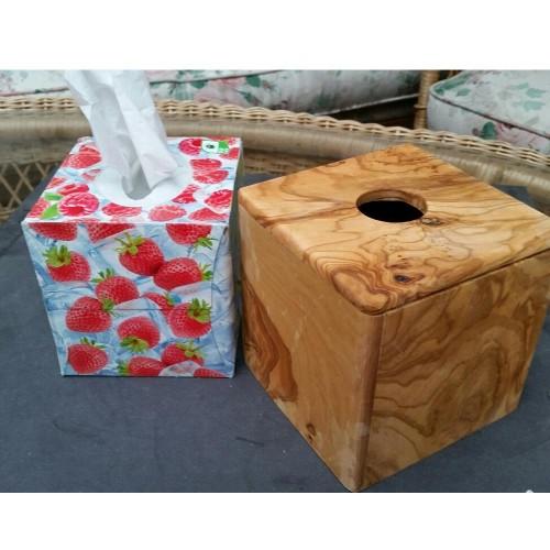 Olivenholz Box für Kosmetiktücher » D.O.M.