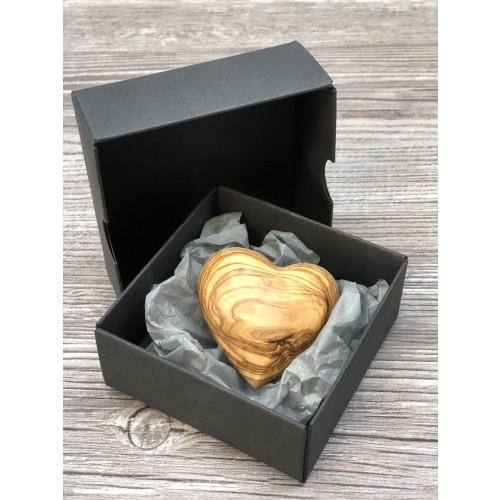 Geschenkbox 'Herzilein' Herz aus Olivenholz » D.O.M.