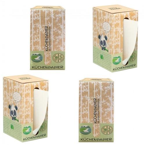 Smooth Panda Bambus Küchenpapier 4 Spenderboxen