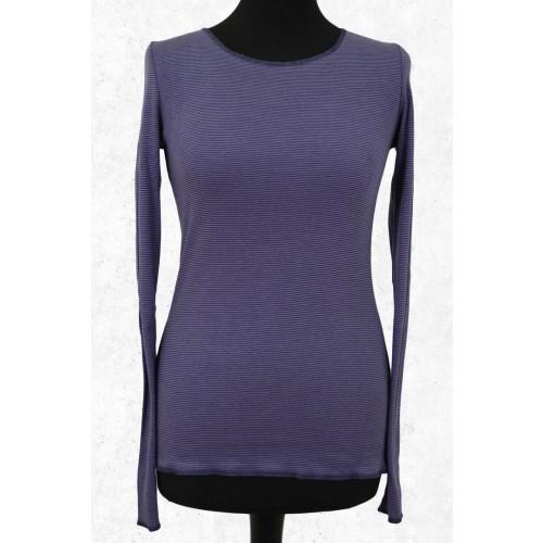 Damen Langarmshirt Lila-Blau - Bio-Baumwolle | Jalfe