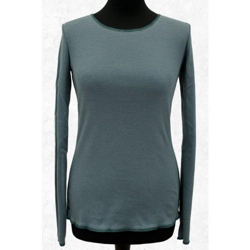 Langarmshirt Blaugrün-Grau geringelt von JALFE | Jalfe