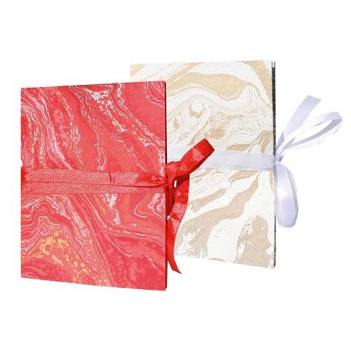 Öko Leporello Marmoriertes Papier - Fair Trade | Sundara Paper Art