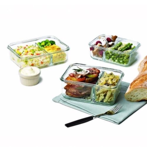 Glasslock Lebensmittelaufbewahrungsdose DUO Air Type