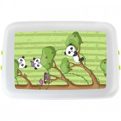 »Panda« Lunchbox & Vesperdose Biokunststoff | Biodora