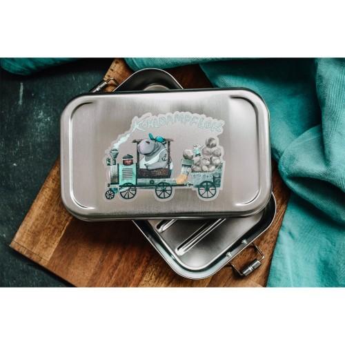 Kinder Edelstahl Lunchbox 'Kohldampflok' » Tindobo