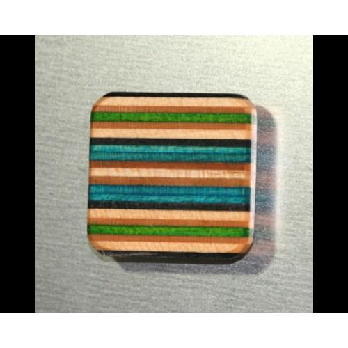 Kühlschrank-Magnet aus Skateboard-Holz | Restwert Upcycling