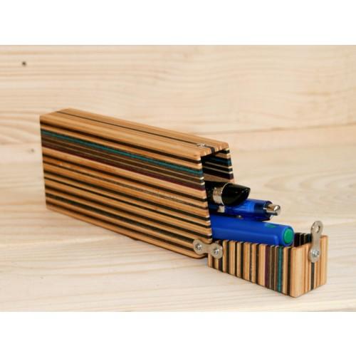 Mäppchen / Stiftebox aus Skateboard-Holz