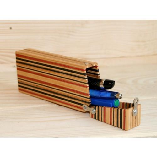 Stifte Mäppchen / Stiftebox aus Skateboard-Holz | Restwert