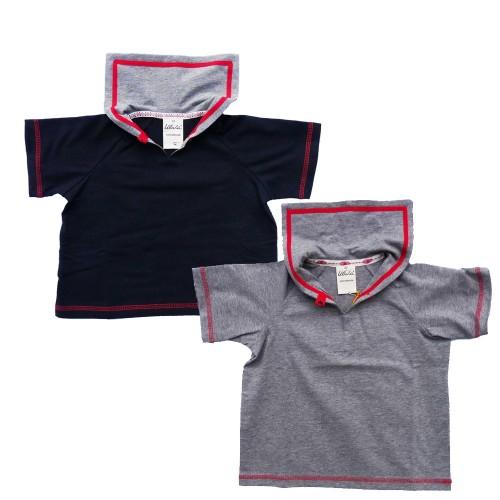 Baby Matrosenshirt Kurzarm, Bio-Baumwolle | Ulalü