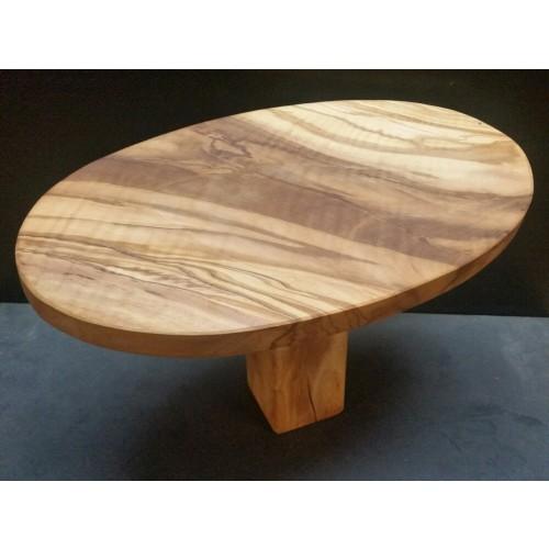 Meditationshocker oval aus Olivenholz, für Fersensitz | D.O.M.