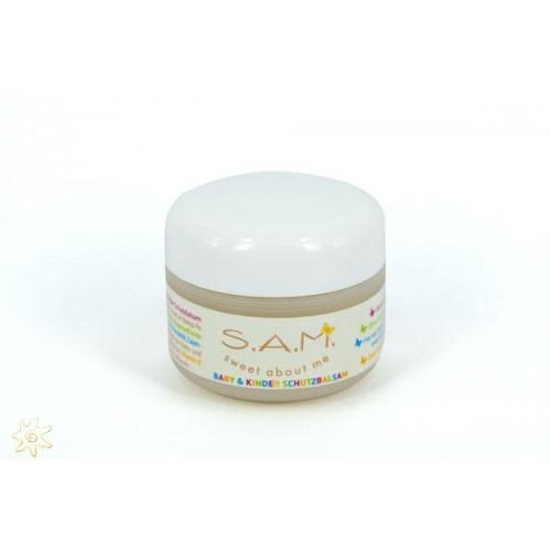 S.A.M. Baby & Kinder Schutzbalsam mit Bio-Mandelöl, parfümfrei | MeraSan