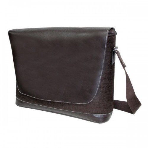 Braune Messenger Bag mit Laptop Fach