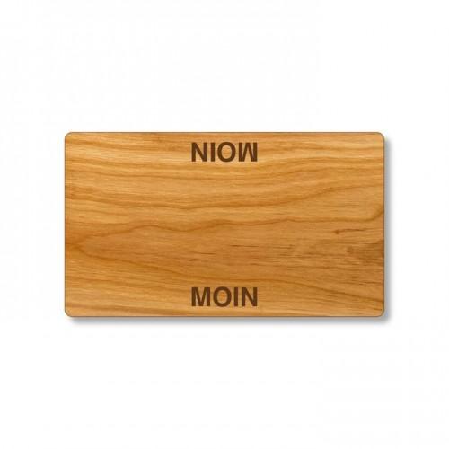 Moin Moin Frühstücksbrett aus Kirschholz   Echtholz
