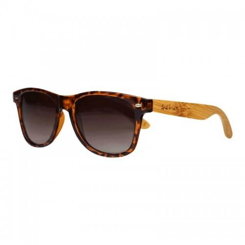 Unisex Sonnenbrille aus Bambus goldbraun