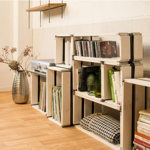 MOVEO CASA 40.XX - Upcycling Regal Holz weiß | reditum