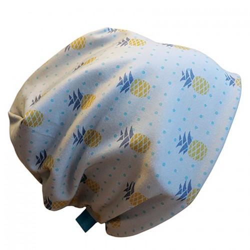 Bio Mütze 'Line' Pineapple - Bio-Beanie graublau | bingabonga