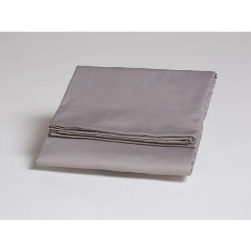 Kissenbezug Baumwollsatin Stone Grey