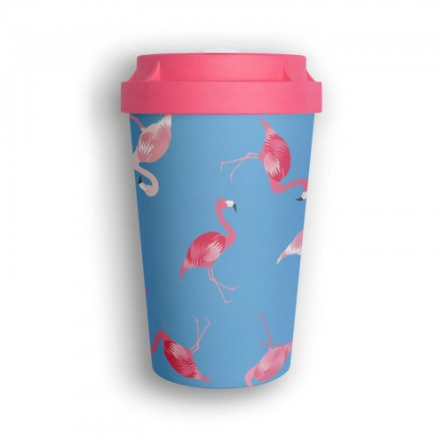bico2go Bio Mehrweg Kaffeebecher to go Heybico Flamingo Overload