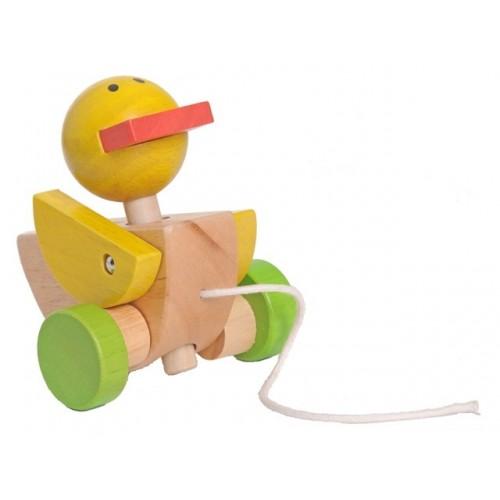 EverEarth Nachzieh-Ente aus FSC Holz – Öko Holzspielzeug