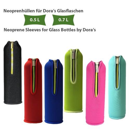Ersatz Neoprenbezug, einfarbig, für Dora's Glasflasche