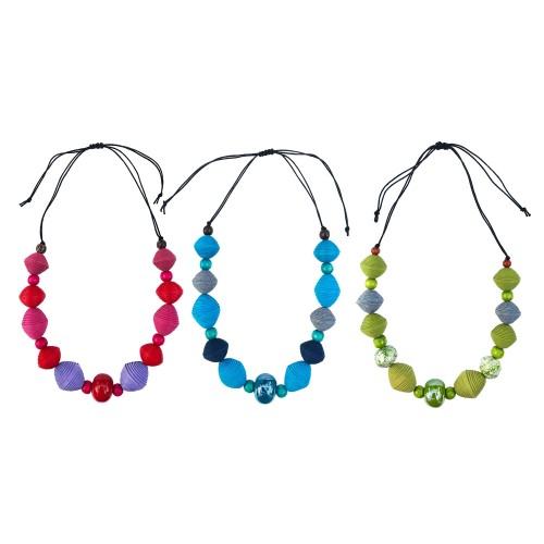 Halskette ELEMENTS mit verschiedenen Perlen | Sundara Paper Art