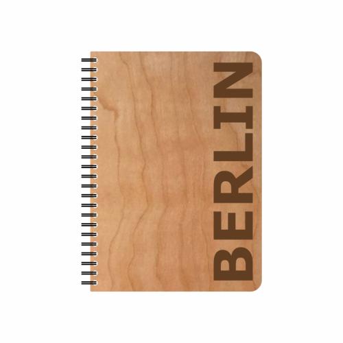 Öko Notizblock BERLIN Kirschholz-Einband & FSC® Papier | Echtholz